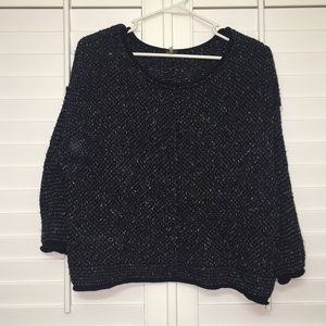 Navy free people sweater